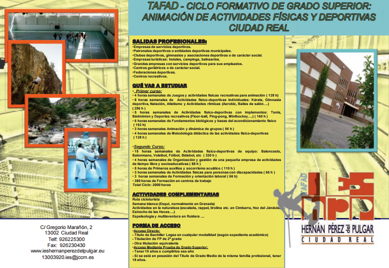 Tablón De Anuncios Ies Hernán Pérez Del Pulgar Ciudad Real